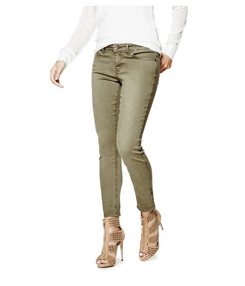 Imbracaminte Femei GUESS Cynthiam Colored Skinny Jeans dusty olive
