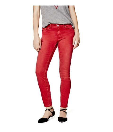 Imbracaminte Femei GUESS Cynthiam Colored Skinny Jeans gypsy red