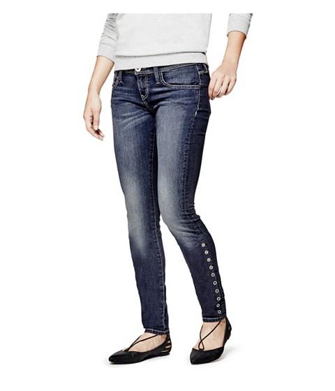 Imbracaminte Femei GUESS Jaya Grommet Skinny Jeans dark wash