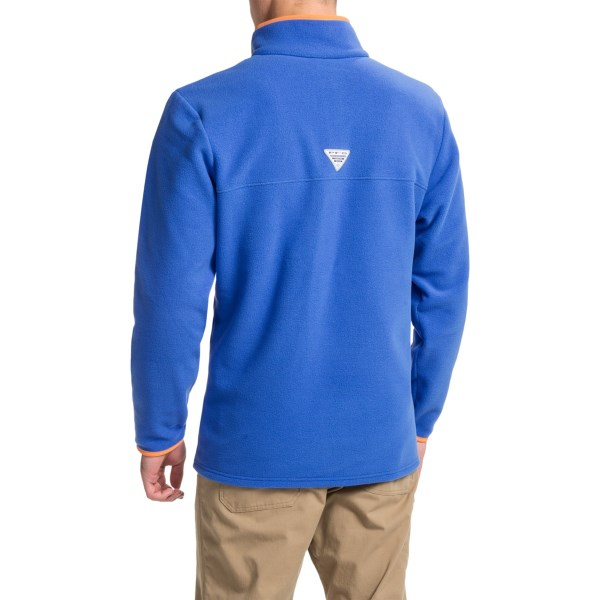 Imbracaminte Barbati Columbia PFG Harbourside Fleece Pullover Jacket VIVID BLUEJUPITER (02)