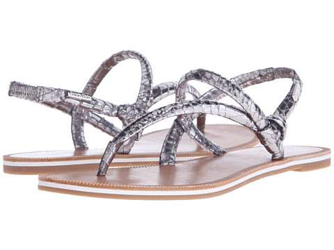 Incaltaminte Femei Calvin Klein Alisia Steel Metallic Snake Print Leather