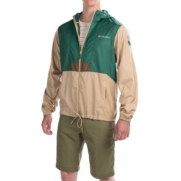 Imbracaminte Barbati Columbia Flashback Windbreaker Jacket - National Park Edition PINE GREENBRITISH TAN (04)