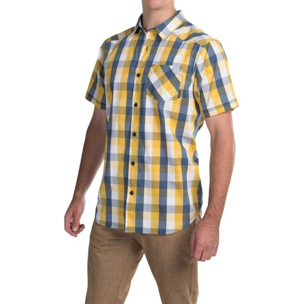 Imbracaminte Barbati Columbia Decoy Rock II Omni-Wick Shirt - Short Sleeve DIJON PLAID (02)