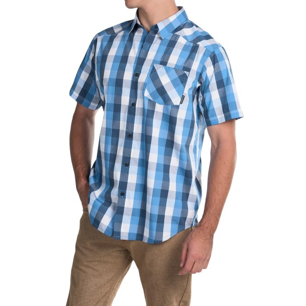 Imbracaminte Barbati Columbia Decoy Rock II Omni-Wick Shirt - Short Sleeve PACIFIC BLUE PLAID (03)