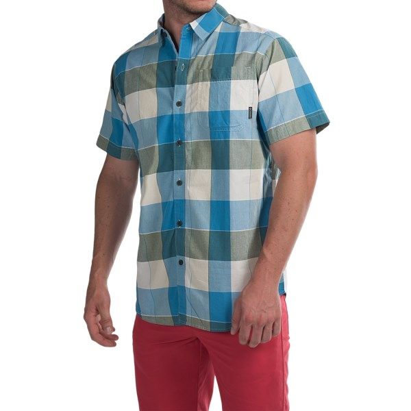 Imbracaminte Barbati Columbia Thompson Hill II Yarn-Dye Shirt - Short Sleeve BLUE SKY LARGE PLAID (03)