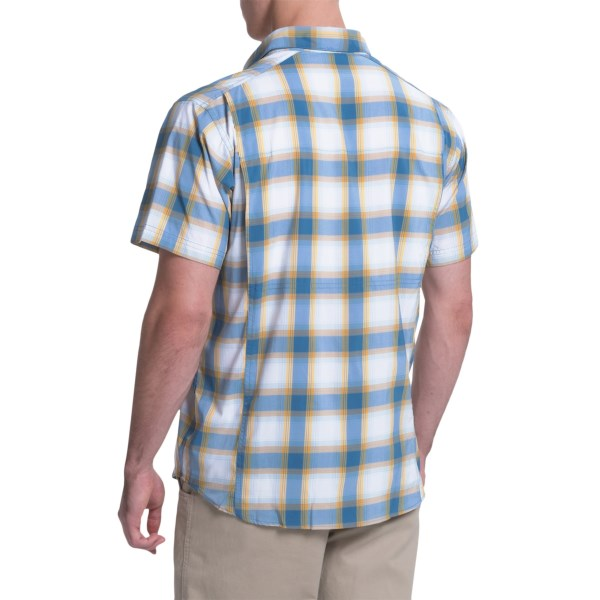 Imbracaminte Barbati Columbia Royce Peak II Omni-Wick Shirt - UPF 50 Short Sleeve SHARK PLAID (01)
