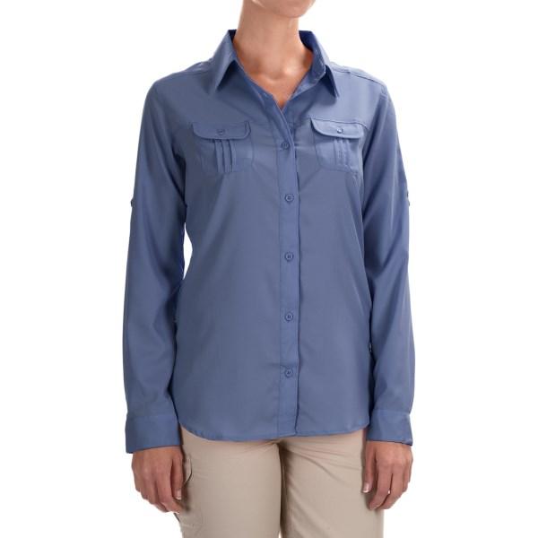 Imbracaminte Femei Columbia Sun Goddess III Omni-Wick Shirt - UPF 40 Long Sleeve BLUEBELL (02)