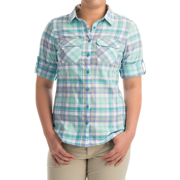 Imbracaminte Femei Columbia Saturday Trail Omni-Wick Shirt - UPF 30 Long Sleeve MIAMI PLAID (01)