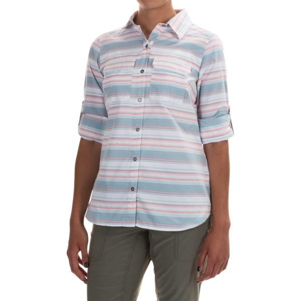 Imbracaminte Femei Columbia Pilsner Peak Stripe Shirt - Omni-Wick UPF 50 Long Sleeve CYPRESS STRIPE (01)