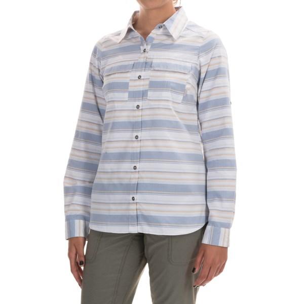 Imbracaminte Femei Columbia Pilsner Peak Stripe Shirt - Omni-Wick UPF 50 Long Sleeve BLUEBELL STRIPE (02)