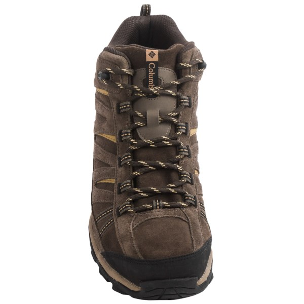 Incaltaminte Barbati Columbia North Plains Mid Leather Hiking Boots - Waterproof CORDOVANPRAIRIE SAND (01)