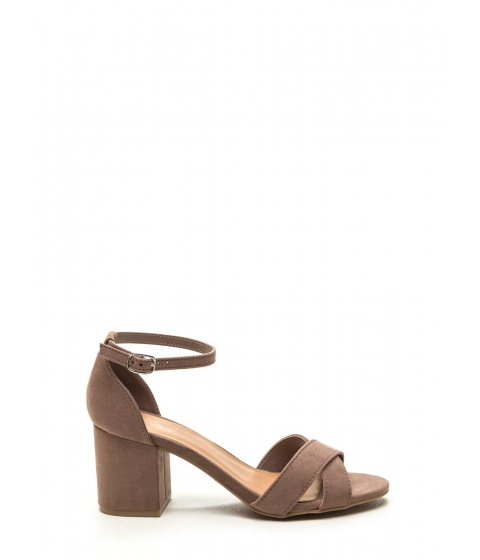 Incaltaminte Femei CheapChic Highlight Of The Day Chunky Heels Lttaupe