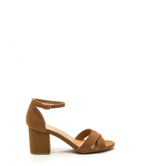 Incaltaminte Femei CheapChic Highlight Of The Day Chunky Heels Tan