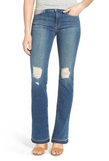 Imbracaminte Femei J Brand Brya Mid Rise Shredded Bootcut Jeans BREATHLESS