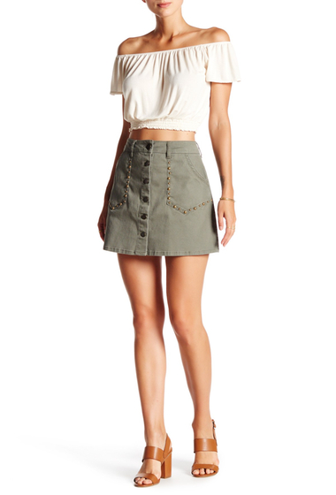 Imbracaminte Femei Jolt Stud Mini Skirt DSOL5 DUST