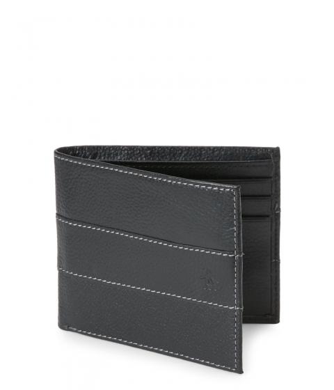 Genti Barbati Original Penguin Black Contrast Stitch Leather Wallet Black
