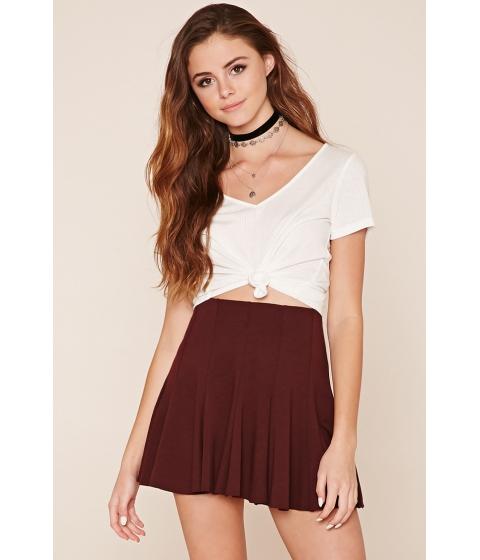 Imbracaminte Femei Forever21 Mini Skater Skirt Aubergine