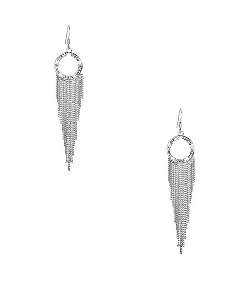 Bijuterii Femei GUESS Silver-Tone Linear Fringe Earrings silver