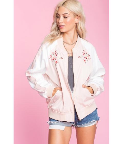 Imbracaminte Femei CheapChic Embroidered Bomber Jacket Blush