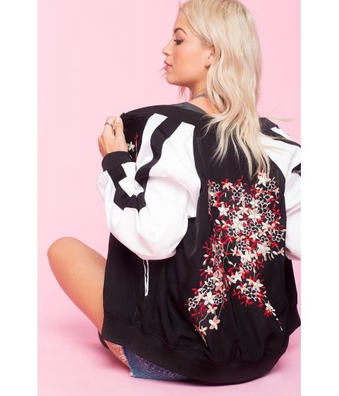Imbracaminte Femei CheapChic Embroidered Bomber Jacket Black