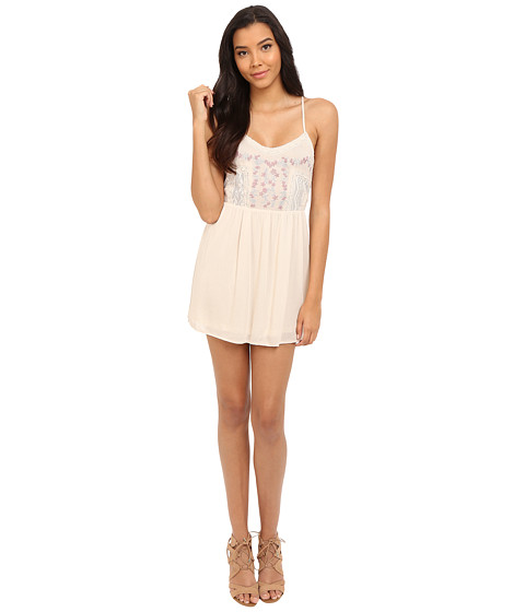 Imbracaminte Femei Brigitte Bailey Kataya Embroidered Top with Lace Detail Oatmeal