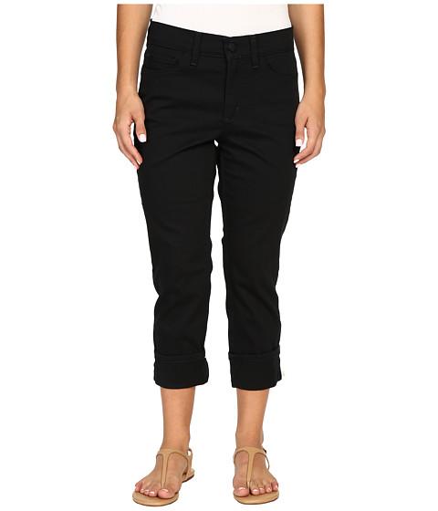 Imbracaminte Femei NYDJ Petite Dayla Wide Cuffed Capri Black