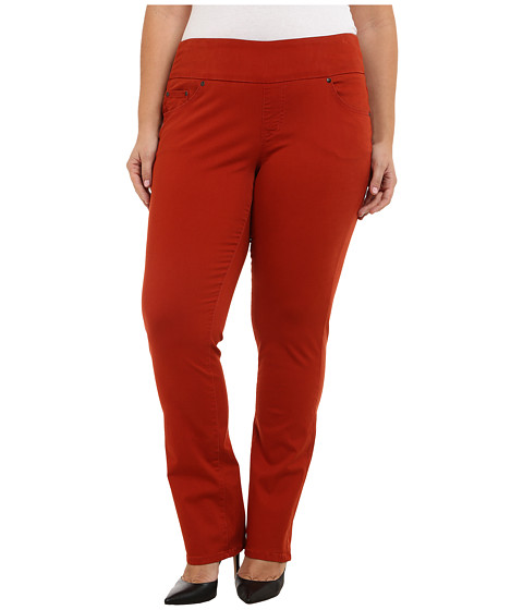 Imbracaminte Femei Jag Jeans Plus Size Peri Pull On Straight Jeans in Henna Henna