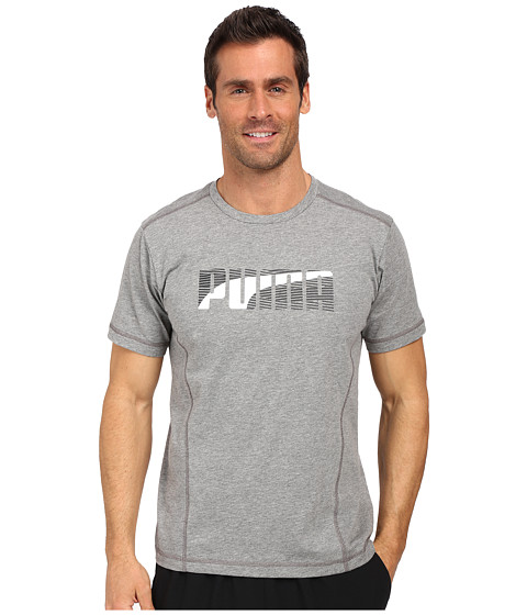 Imbracaminte Barbati PUMA Active Dry Formstripe Tee Medium Gray Heather