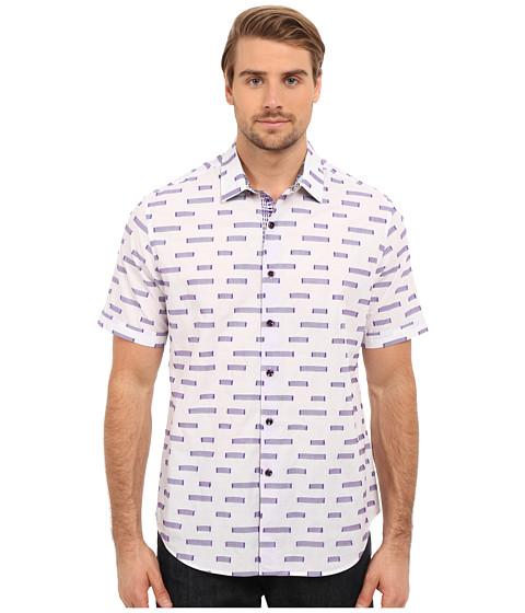 Imbracaminte Barbati Robert Graham Star Dunes Short Sleeve Woven Shirt White