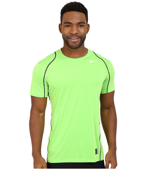 Imbracaminte Barbati Nike Pro Cool Fitted SS Action GreenBlackWhite