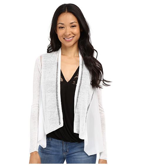 Imbracaminte Femei Lucky Brand Woven Mixed Cardigan Lucky White