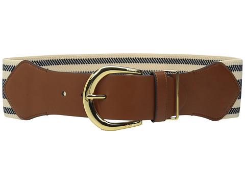 Accesorii Femei LAUREN Ralph Lauren Stripe Stretch 3quot Belt NavyNatural