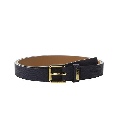 Accesorii Femei LAUREN Ralph Lauren Crosshatch Leather 1quot Endbar Belt Marine