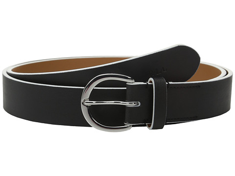 Accesorii Femei LAUREN Ralph Lauren 1 18quot Milford Endbar Belt w Contrast Edge BlackWhite