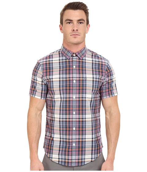 Imbracaminte Barbati Original Penguin P55 Short Sleeve Plaid Dark Sapphire