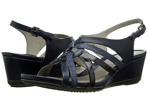 Incaltaminte Femei ECCO Touch 45 Wedge Sandal MarineDenim BlueMarine