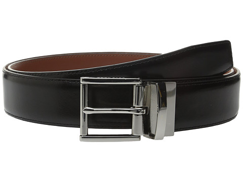 Accesorii Barbati Cole Haan 35mm Reversible Stitched Feather Edge Spazzolato Belt Black