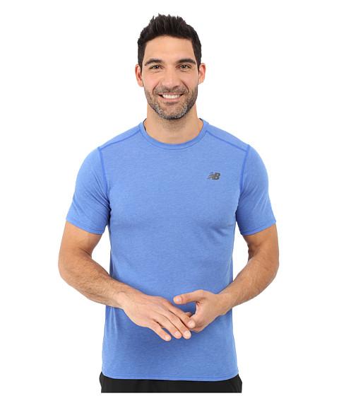 Imbracaminte Barbati New Balance Pindot Flux Short Sleeve Top Pacific
