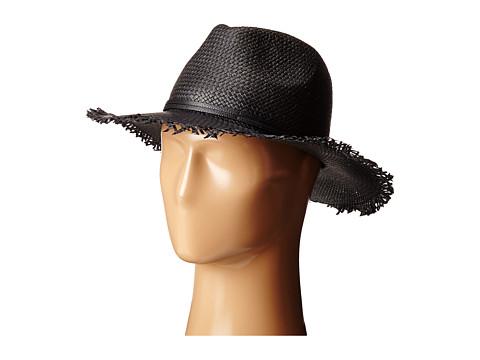 Accesorii Femei BCBGMAXAZRIA Frayed Panama Hat Black