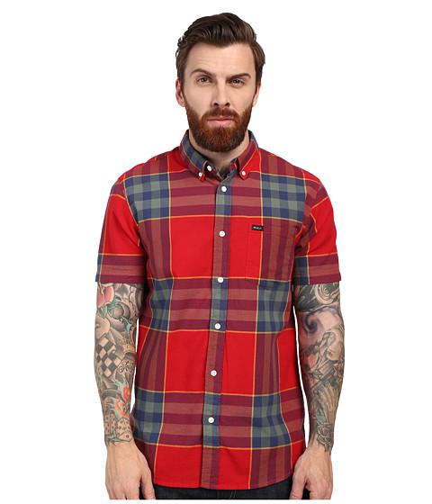 Imbracaminte Barbati RVCA Brookfield Short Sleeve Woven Red Hot
