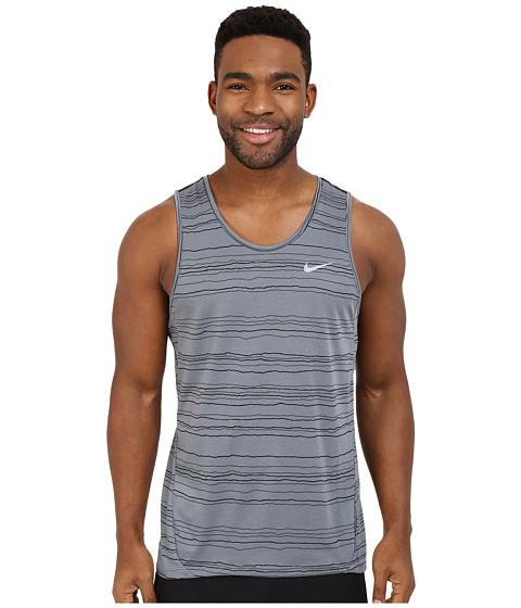 Imbracaminte Barbati Nike Dri-FITtrade Cool Tailwind Stripe Running Tank Top Cool GreyReflective Silver