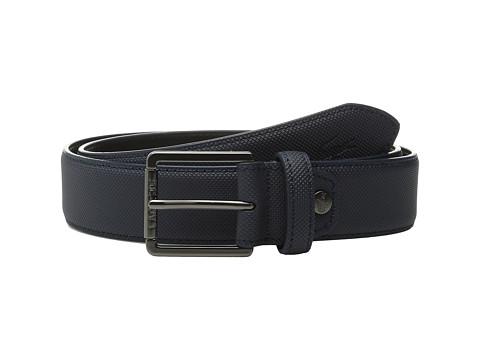 Accesorii Barbati Lacoste Premium Pique PVC Belt Black Iris