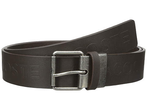 Accesorii Barbati Lacoste All Over Embossed Logo Belt Brown