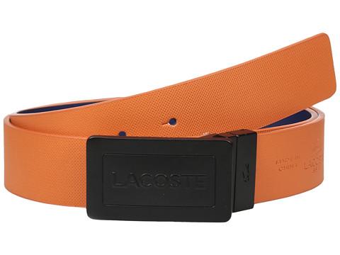 Accesorii Barbati Lacoste Reversible Plaque Belt OrangeNautical Blue