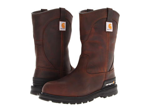 Incaltaminte Barbati Carhartt Wellington Unlined Safety Toe Boot Dark Brown Oil Tan