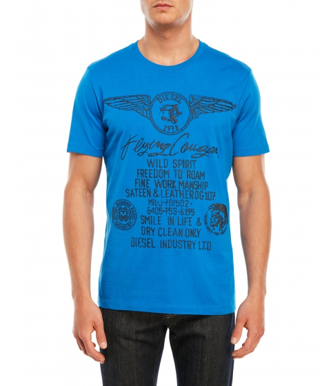 Imbracaminte Barbati Diesel T-Leas Graphic Tee Royal Blue