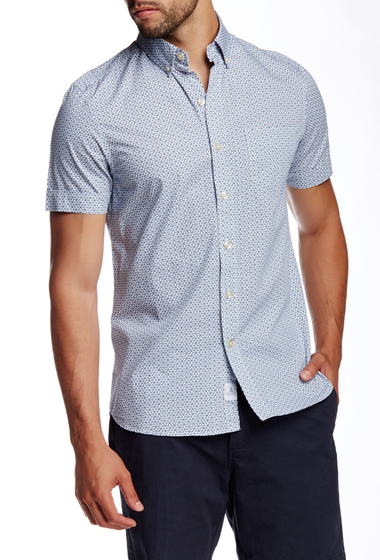 Imbracaminte Barbati Kennington Printed Basketweave Short Sleeve Shirt SEA