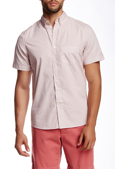 Imbracaminte Barbati Kennington Printed Woven Short Sleeve Shirt ROSE