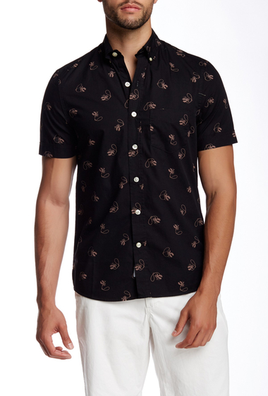 Imbracaminte Barbati Kennington Cowboy Print Woven Short Sleeve Shirt BLACK