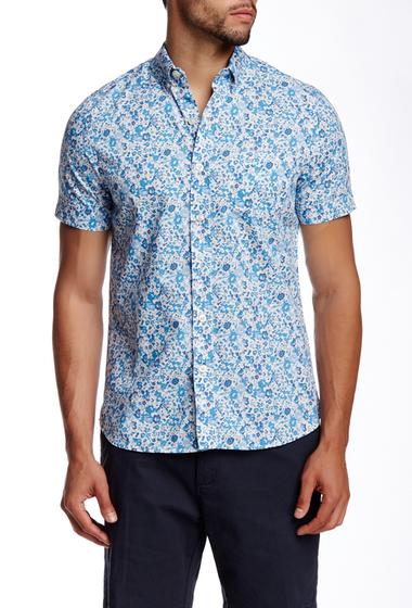 Imbracaminte Barbati Kennington Floral Print Woven Short Sleeve Shirt SKY